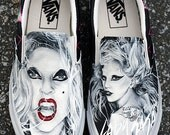 MADE TO ORDER (Any Size) Original Hand Painted Lady Gaga Born This Way Shoes