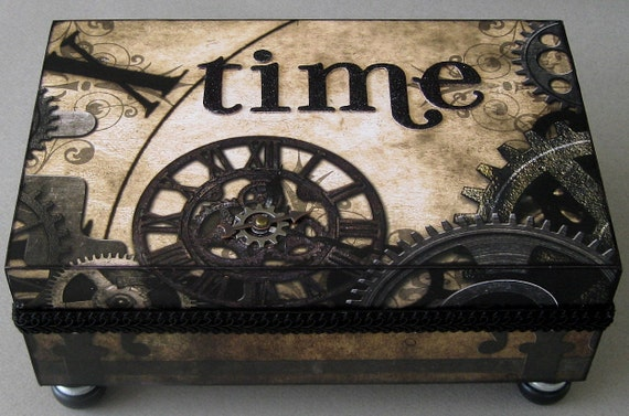 Steampunk Time Keepsake Box