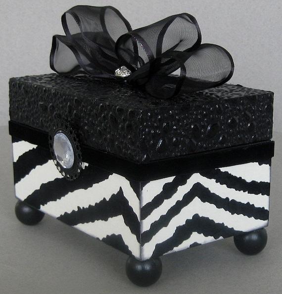 Flocked Zebra Keepsake Box
