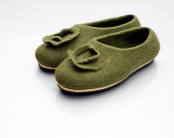 Felted clogs, Felted slippers, Wool slippers Women slippers, Felted Footwear Warm slippers, House shoes, Girlfriend gift for wife wool felt