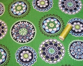 Green Cupcakes Vera Bradley Large Fat Quarter 18 inches by 30 inches