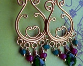 "Gemstone Earrings ""Festive Chandeliers"""