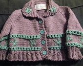 Embroidered Daisy Cardigan PATTERN