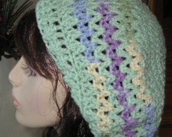 Sale Slouchy Beret Dread Tam Crochet Hat