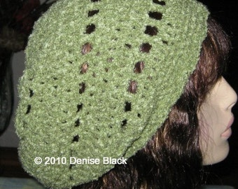 Light Thyme Slouchy Beanie Dread Tam Hat
