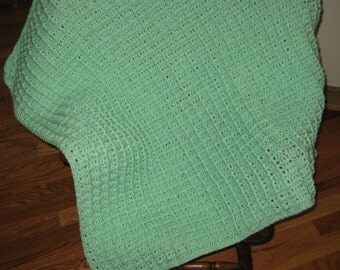 Mint Green Baby Afghan