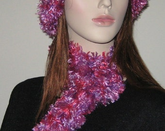 20 Percent Off Sale Hot Pink and Splash Hat and Scarf
