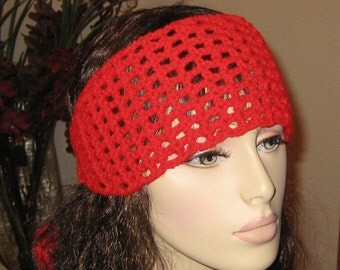 Cherry Red Dread Headband