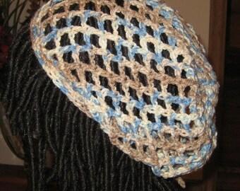 Crochet Mesh Slouchy Beanie Dread Tam