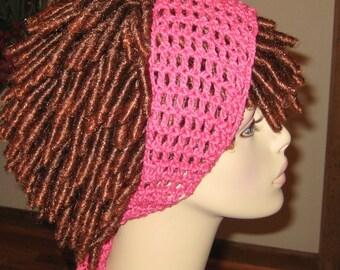 Cotton Hot Pink  Dread Headband