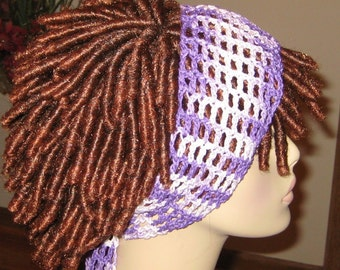 Dread Headband in Cotton Purpletones