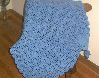 Cochet Blue Baby Afghan