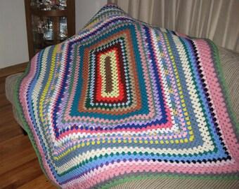 Crochet One of a Kind Scrap Afghan BC