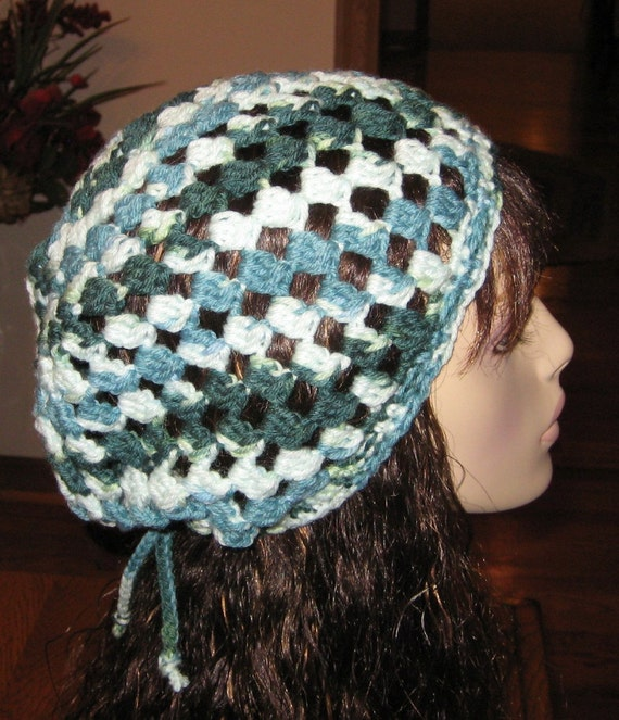 Cluster Slouchy Beanie Dread Tam in Shaded Greens