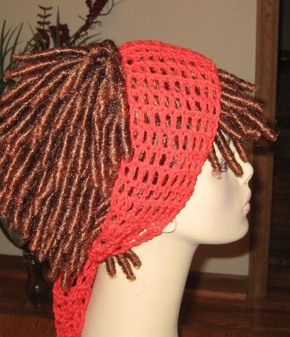 Cotton Red Dread Headband