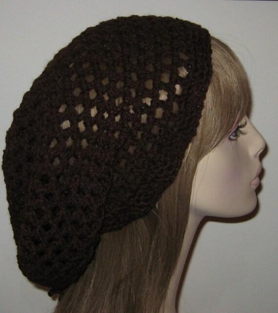 Chocolate Slouchy Beanie Dread Tam Hat