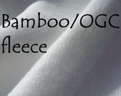 SALE 3 yards Bamboo Organic cotton FLEECE fabric Unbleached knit perfect for cloth diapers and baby clothing