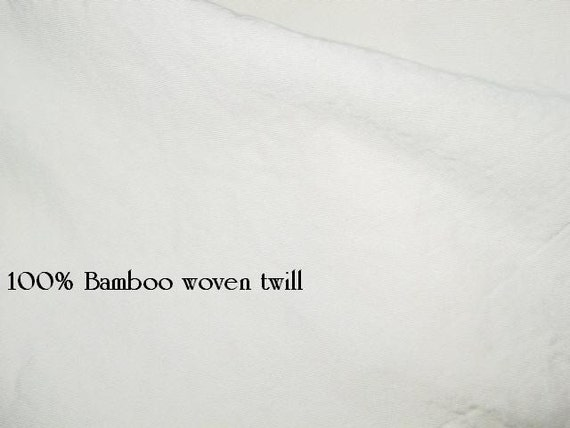 SECONDS 2 yards Bamboo unbleached woven twill fabric 62.5 inches wide