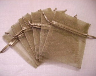 30 - 3 x 4 Old Willow Organza Bags - Great for wedding favors, sachets, jewelry, etc.