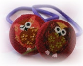 Wink Owls........2 PONYTAIL HOLDERS