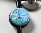 The ORIGINAL Stethoscope ID Tag--DragonFly--