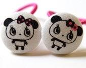 Lovely Pandas-------2 Ponytail Holders