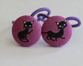 Kawaii Black Cats-------2 ponytail holders