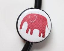 The ORIGINAL Stethoscope ID Tag---Pink MOD Elephant--