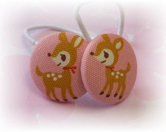 Sweet Little Deer...................2 ponytail holders