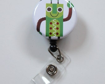 ROBOT----------- ID Badge Reel Clip