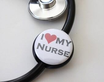 I LOVE My Nurse----Stethoscope ID Tag