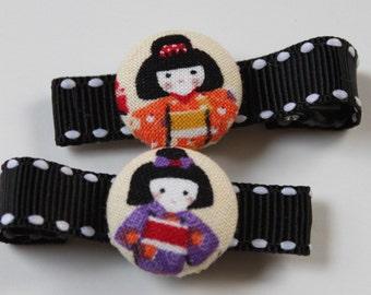 ASIAN DOLLS.....................2 Button Hair Clips