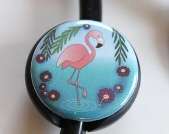 The ORIGINAL Stethoscope ID Tag--Flamingo---