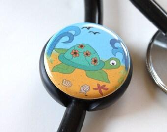 The ORIGINAL Stethoscope ID Tag---Sea Turtle--