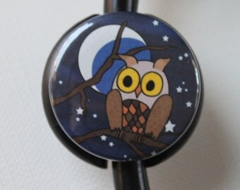 The ORIGINAL Stethoscope ID Tag---Night Owl--