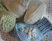 Cutie Booties in the Round, Knit Pattern pdf