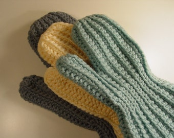 Easy Sideways Crochet Mittens, 100% Profit donated to CCFAP
