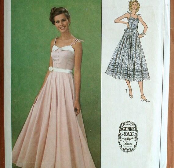 Vintage 70s Gunne Sax Dress Pattern Prairie Chic Simplicity