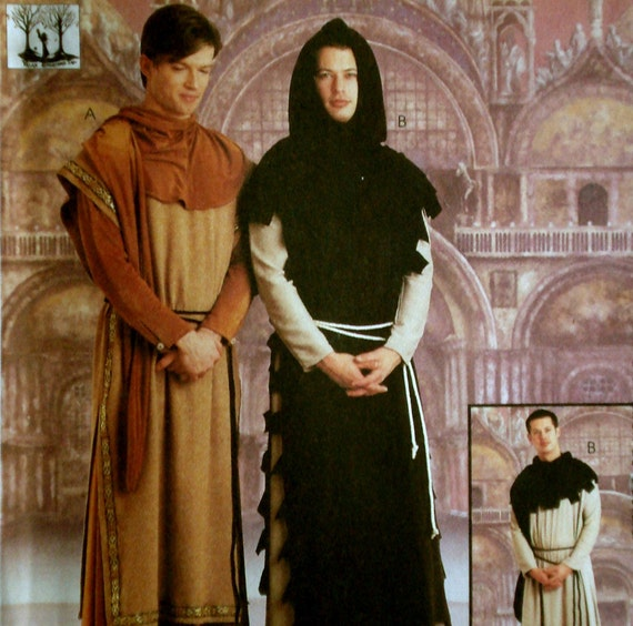 Medieval Monk or Priest Costume Pattern McCall's 9426 Size S M Uncut