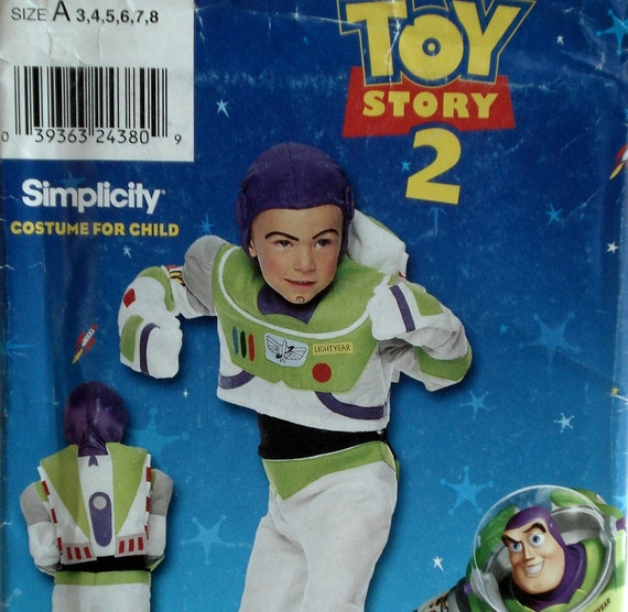 Child's Buzz Lightyear Costume Pattern Simplicity 0627 Size 3 4 5 6 7 8 Uncut Toy Story 2