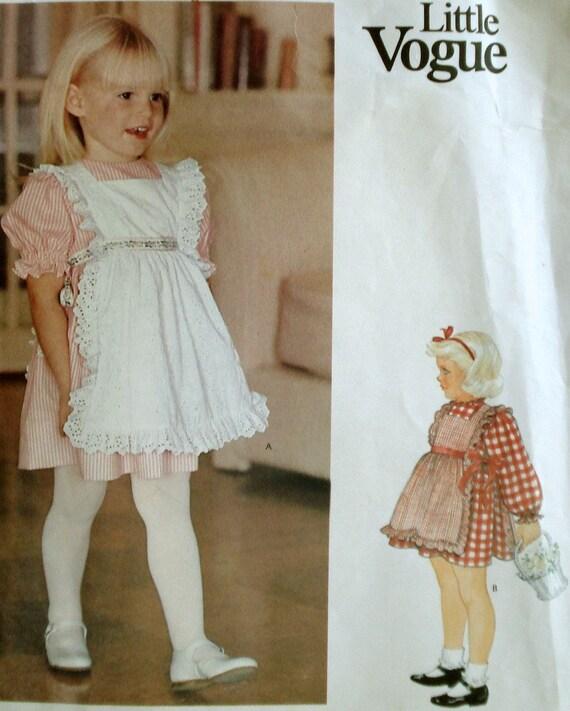Little Vogue Toddler Girls Dress And Pinafore Pattern