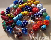 Dotted Handmade Glass Beads Multicolor