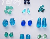 Blue and Green Bead Mix (30)