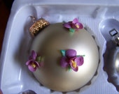 Violet Seashell Ornament