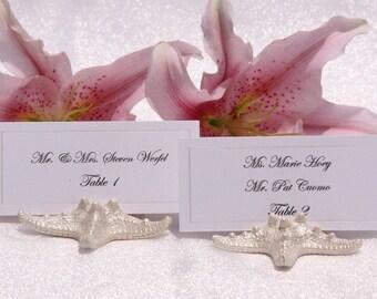 Beach Wedding + Place Card Holder + Starfish Place Card Holder Beach Wedding-Pearlized Starfish Place Card Holder- Set of 100