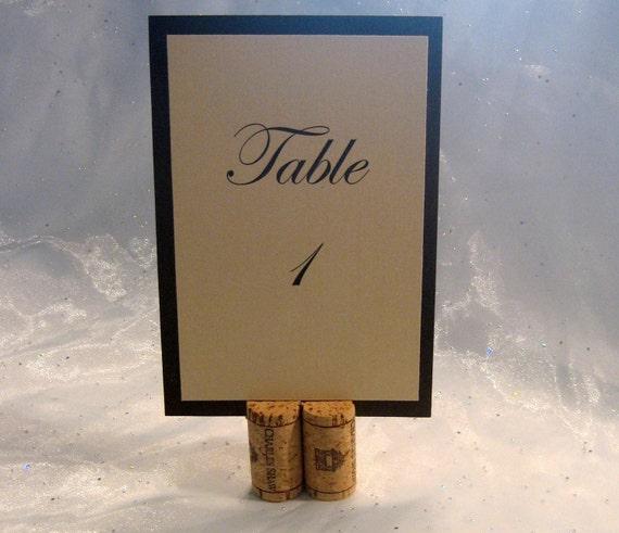 Wine Cork Table Numbers: Wine Cork Table Number Holder-Set Of 10