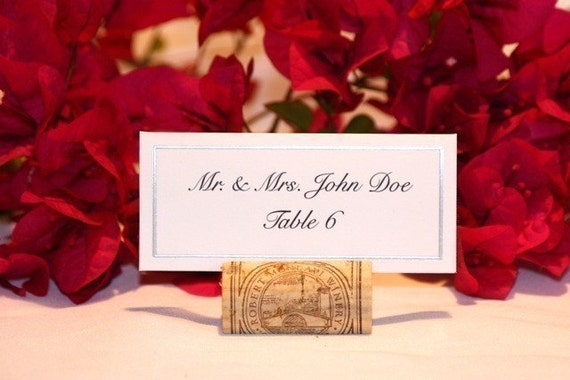 Wine Cork Place Card Holders (NEW CORKS)- Set of 60