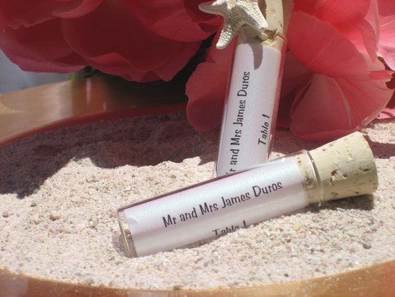 Message in a bottle Place Card/ escort card  Holder in a bottle - shipping