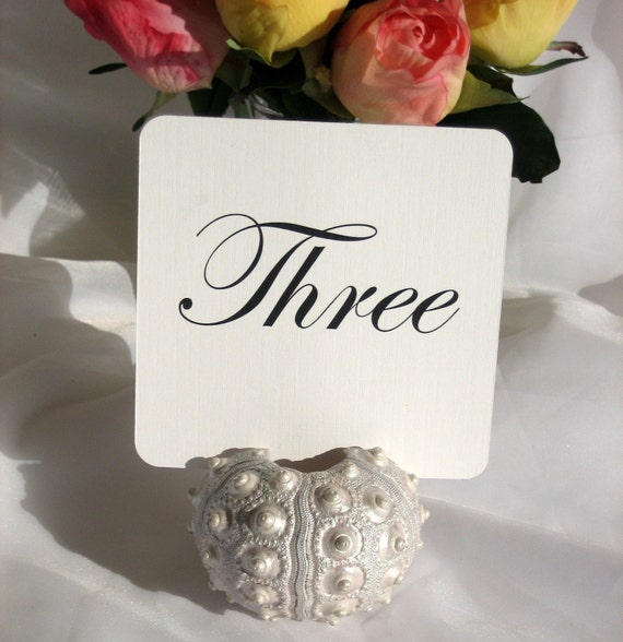 Custom Order (deliver before 3/29 Set of 10 white wood table card holders with 10 White Linen Table Numbers-(4 x 4 )