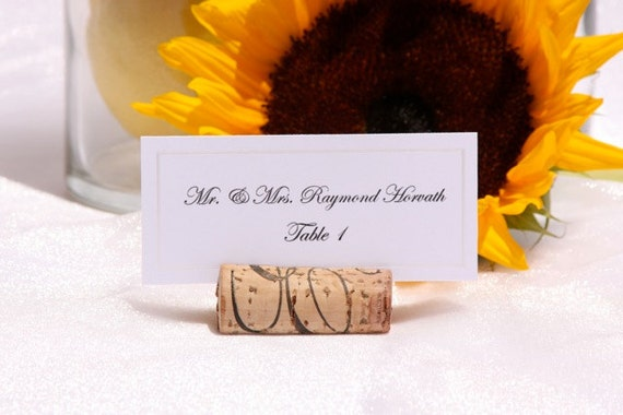 Wine Cork place card holders -Custom Order -corks provided by client-Set of 100